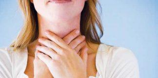 gola infiammata gonfia